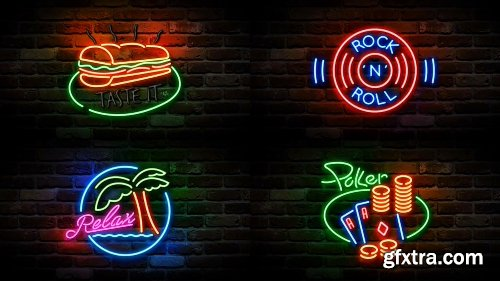Videohive Easy Neon Lights Maker 14350769