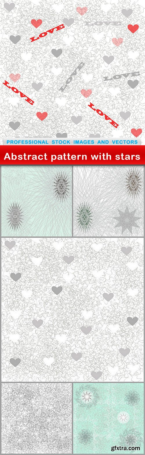 Abstract pattern with stars - 6 EPS