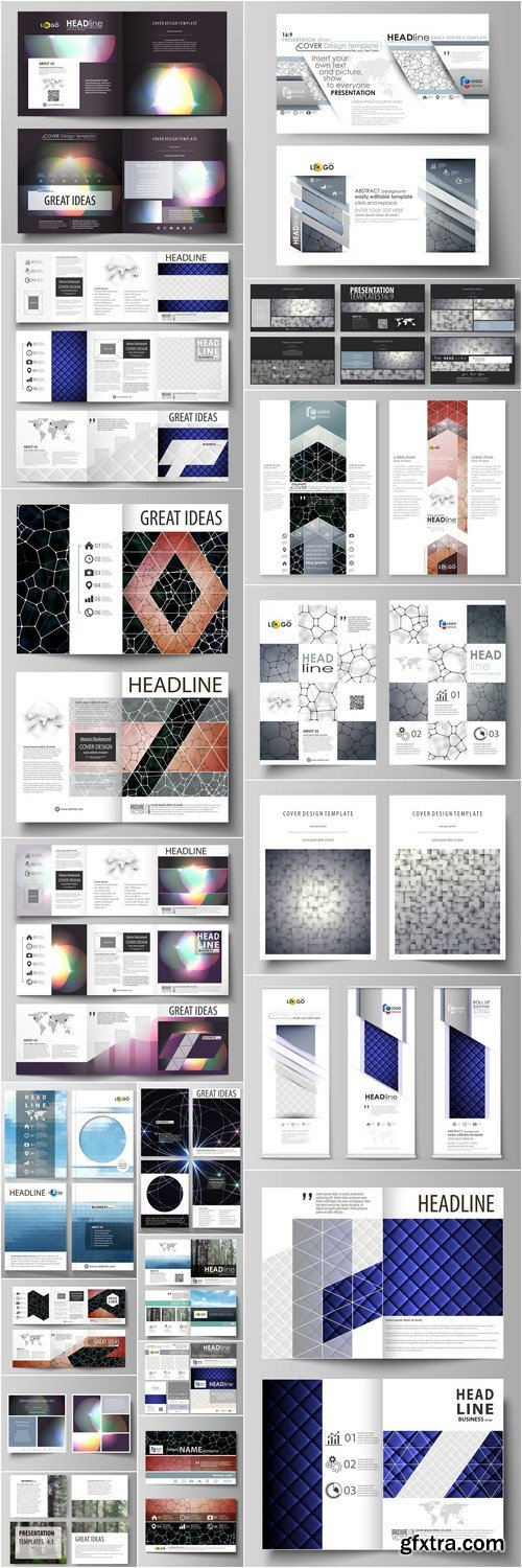 Abstract Set Of Business Template - 20 Vector