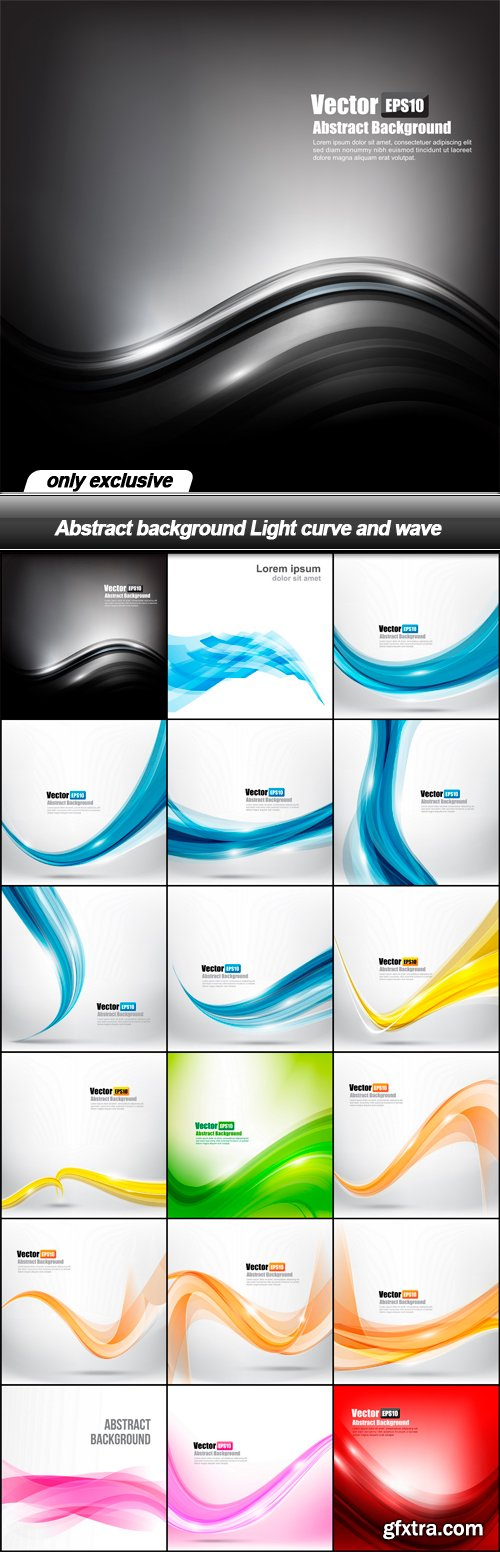 Abstract background Light curve and wave - 18 EPS