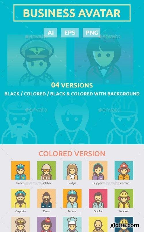 GraphicRiver - Business Avatar Icon Set 10543112