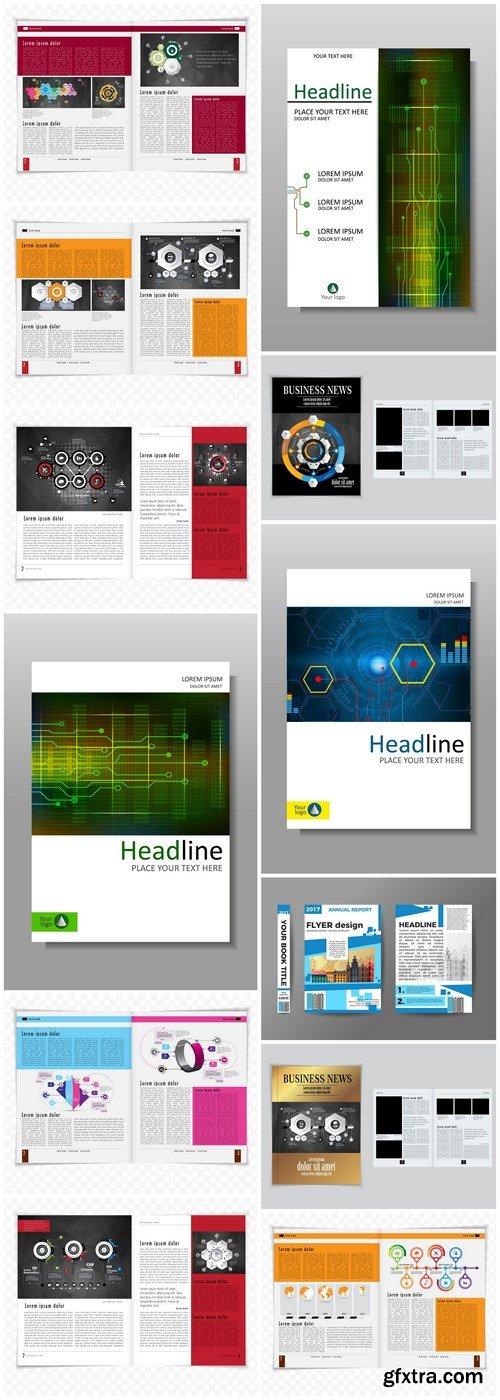 Business Magazine Template - 12 Vector
