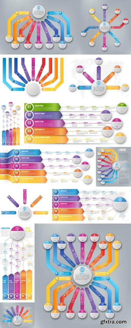 Arrows and Timeline Infographic Template