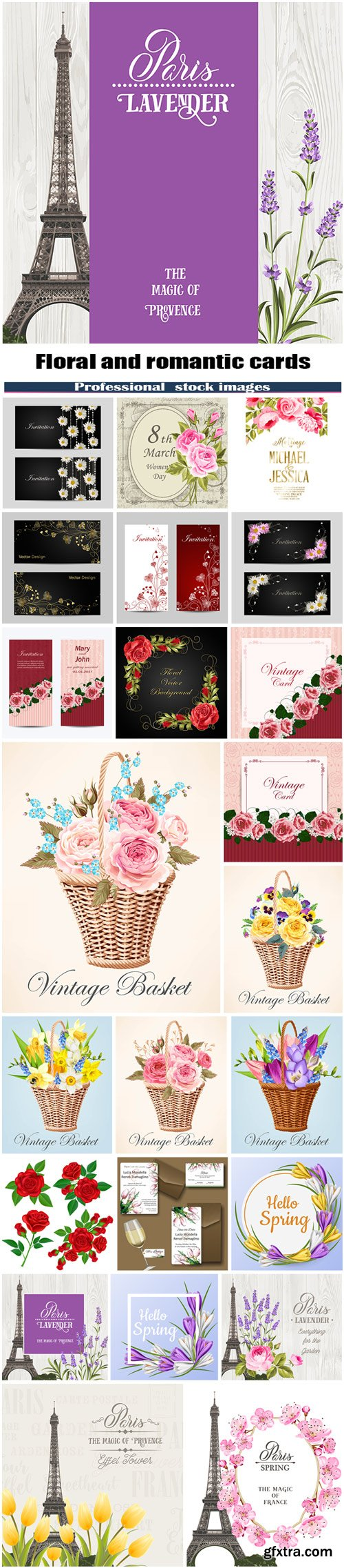 Floral and romantic cards