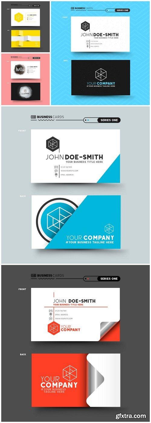 Business Card Design #142 - 5 Vector