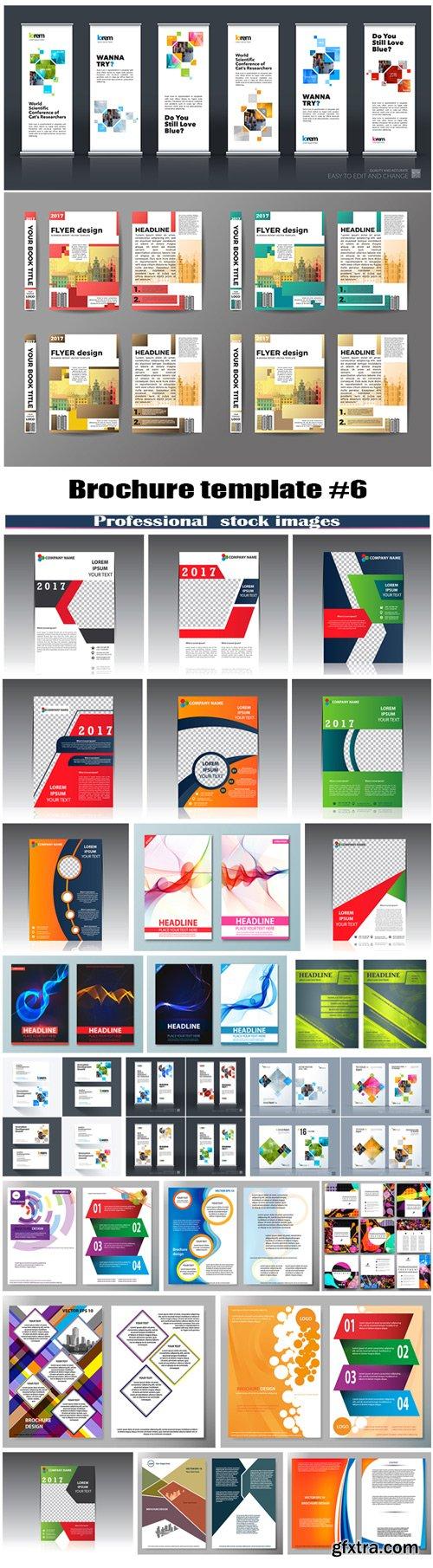 Brochure template set #6