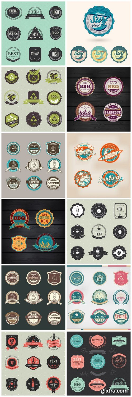 Different Labels And Stickers #142 - 12 Vector