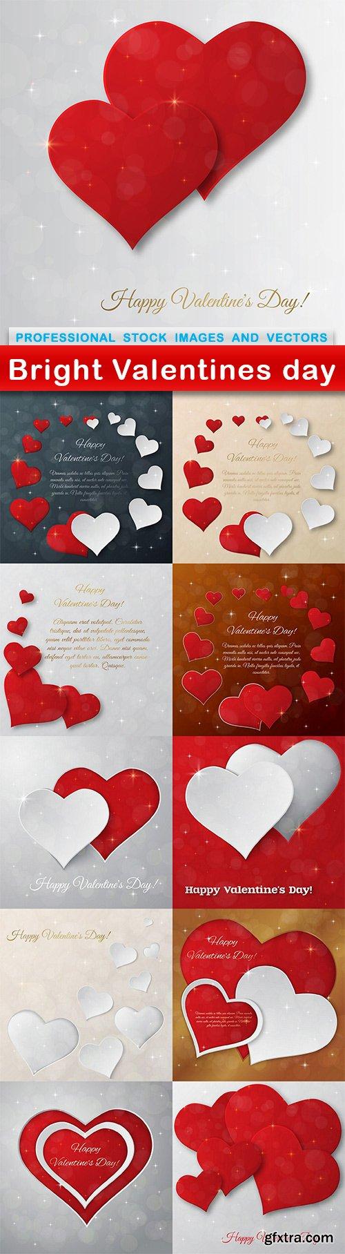 Bright Valentines day - 11 EPS