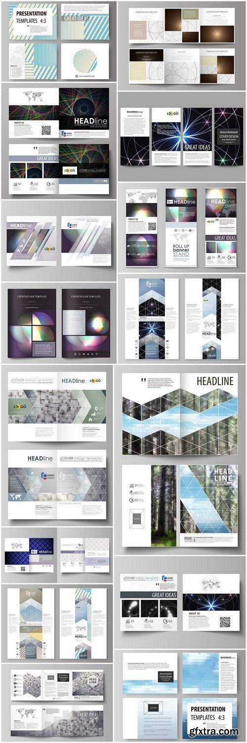 Abstract Set Of Business Template #2 - 15 Vector