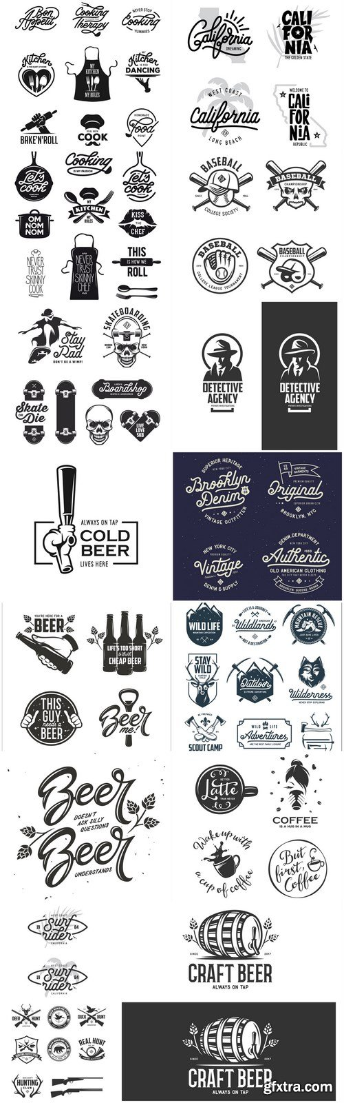Different Logo Label - 15 Vector