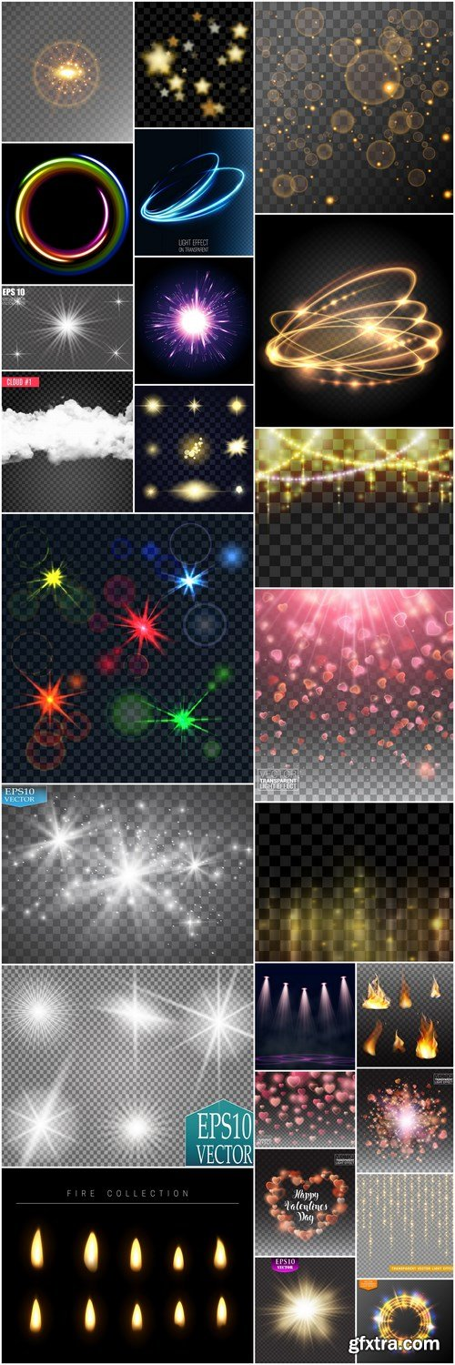 Glowing Light Effect #5 - 25 Vector