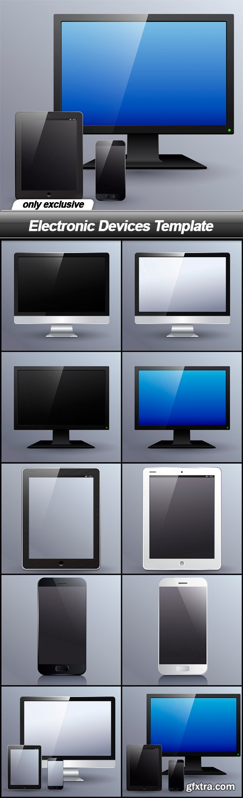 Electronic Devices Template - 10 EPS