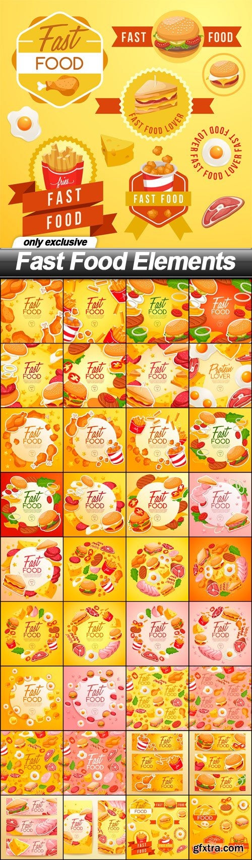 Fast Food Elements - 36 EPS