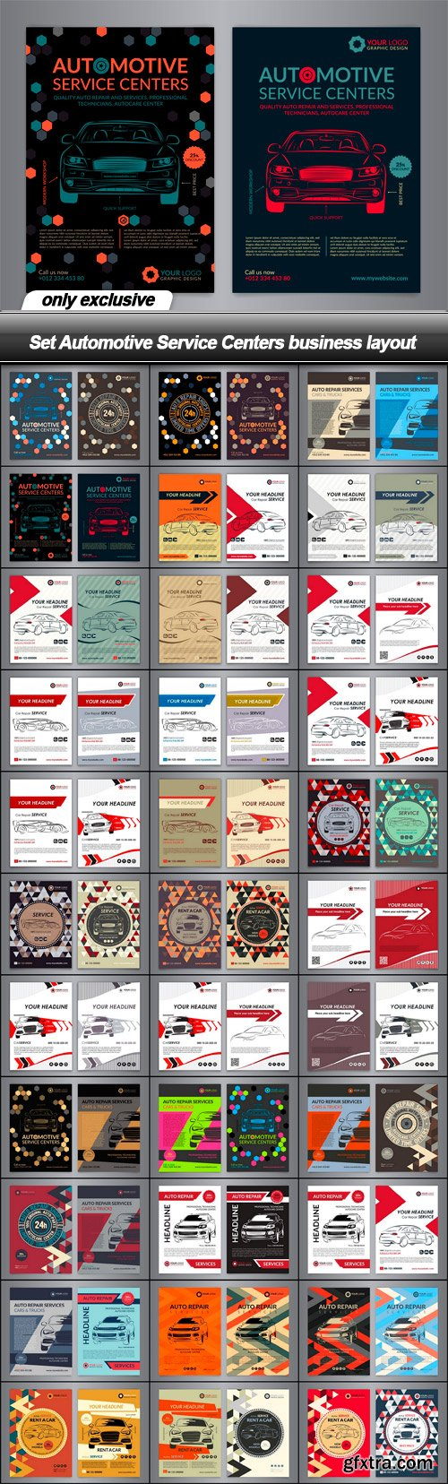 Set Automotive Service Centers business layout - 33 EPS