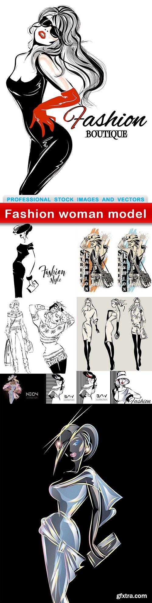 Fashion woman model - 10 EPS