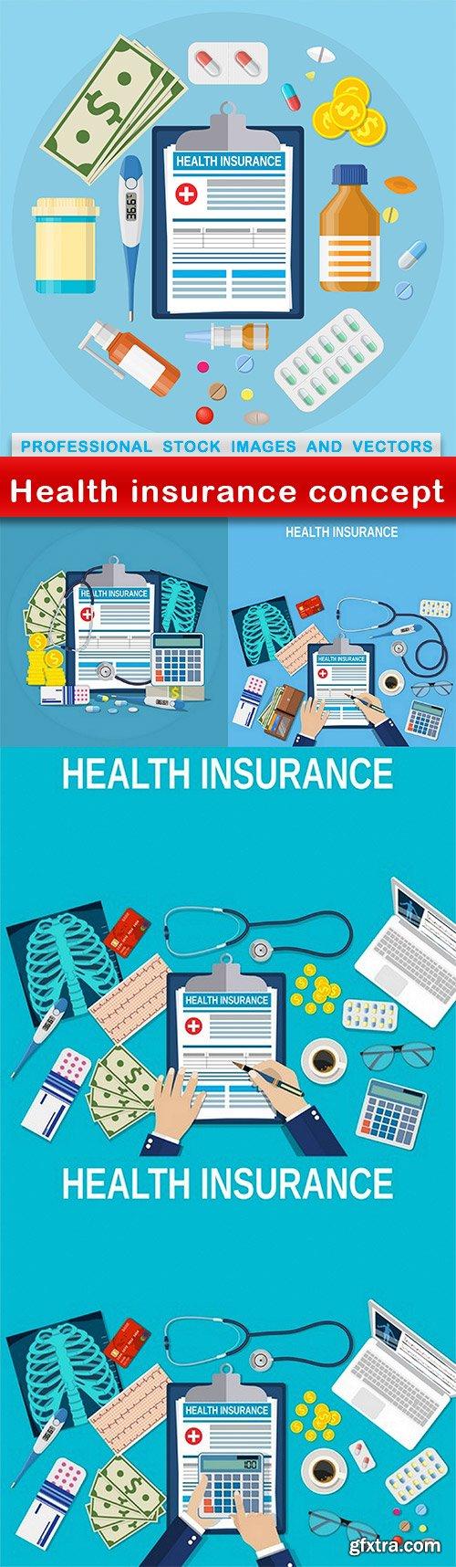 Health insurance concept - 5 EPS
