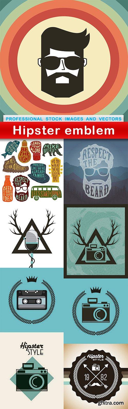 Hipster emblem - 9 EPS