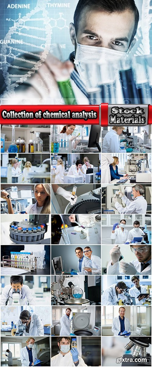 Collection of chemical analysis laboratory chemist microscope 25 HQ Jpeg