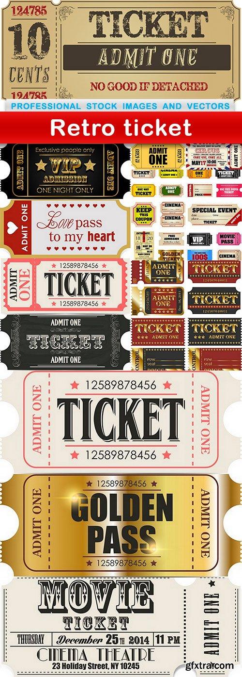 Retro ticket - 12 EPS