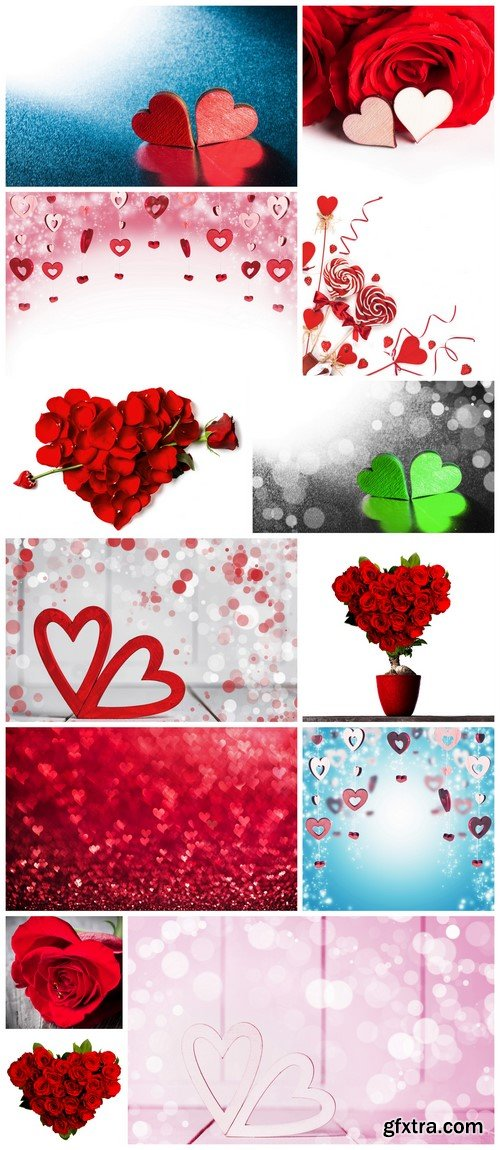 Red rose petals heart 13X JPEG