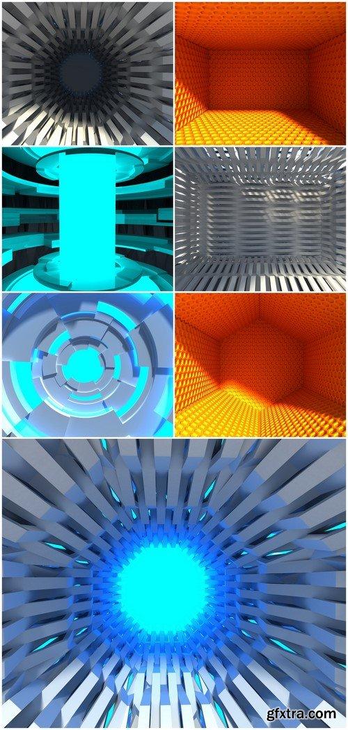 Modern tunnel 3D rendering 7X JPEG
