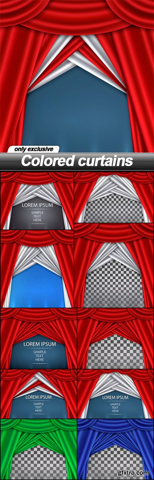 Colored curtains - 11 EPS