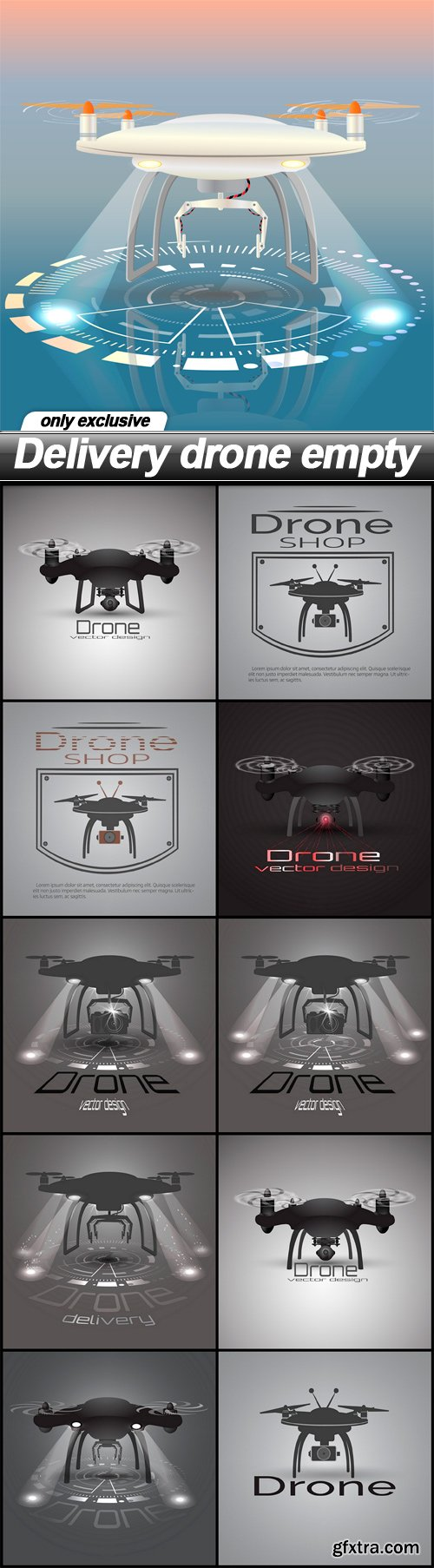 Delivery drone empty - 11 EPS