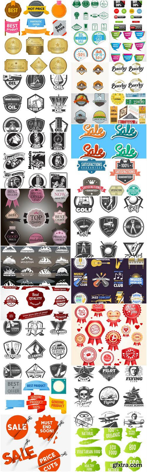 Different Labels And Stickers #143 - 25 Vector