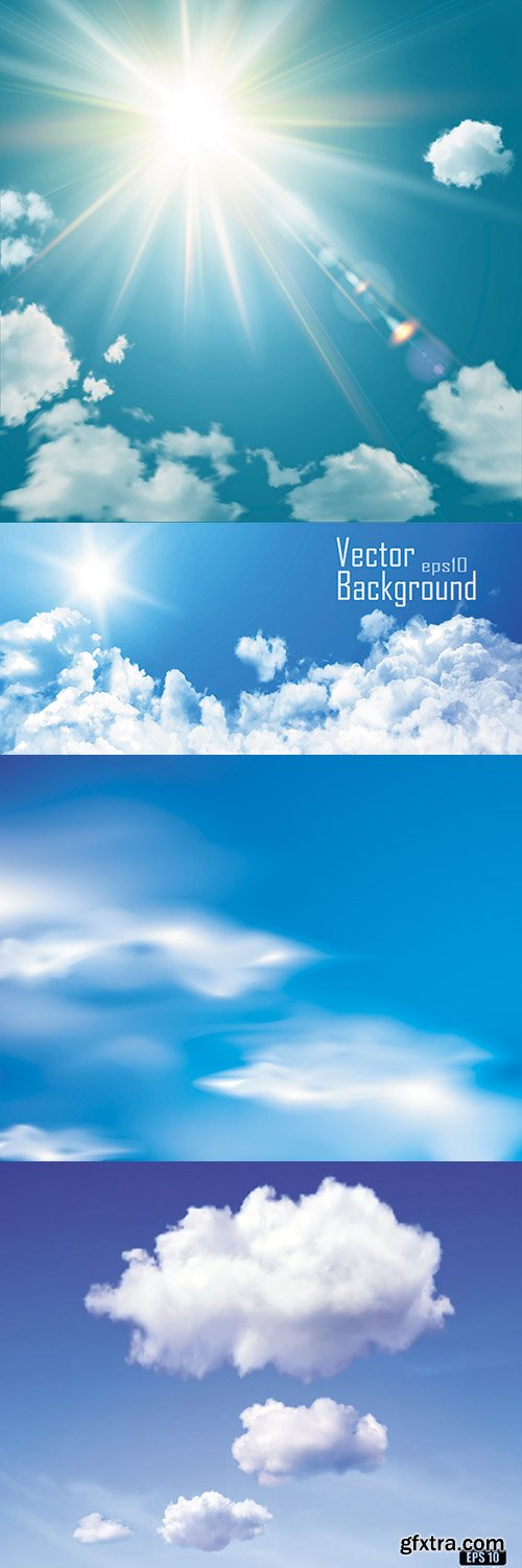Sky And Clouds vector clipart
