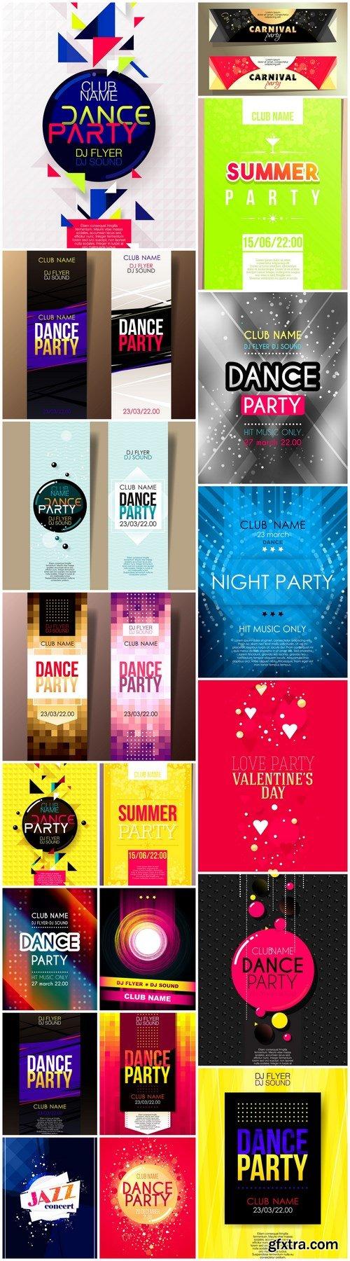 Disco Dance Party Flyer - 20 Vector
