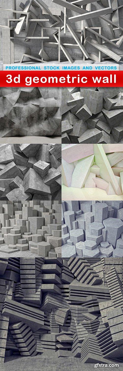 3d geometric wall - 8 UHQ JPEG