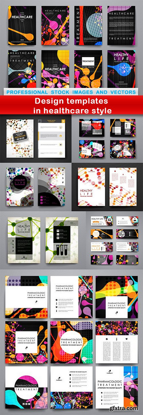 Design templates in healthcare style - 8 EPS