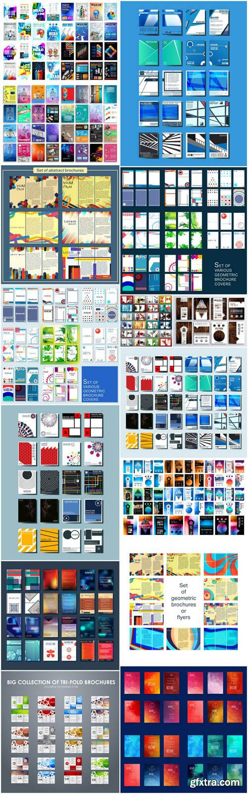 Broshure Cover Template Set - 15 Vector