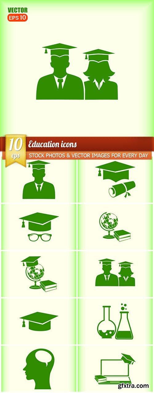 Education icons, 10 x EPS