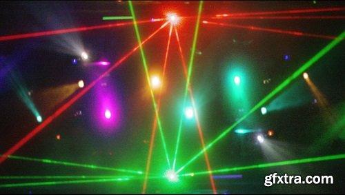 Strobing concerts laser lights