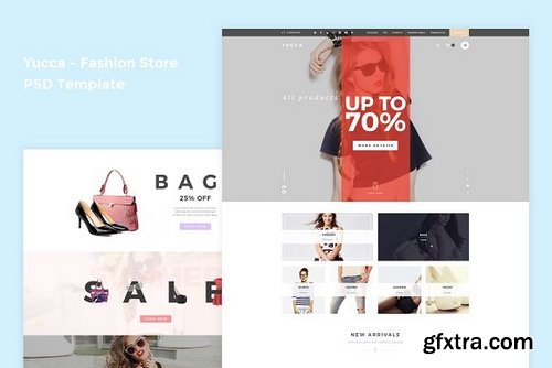 CM - Yucca - Fashion Store PSD Template 866879