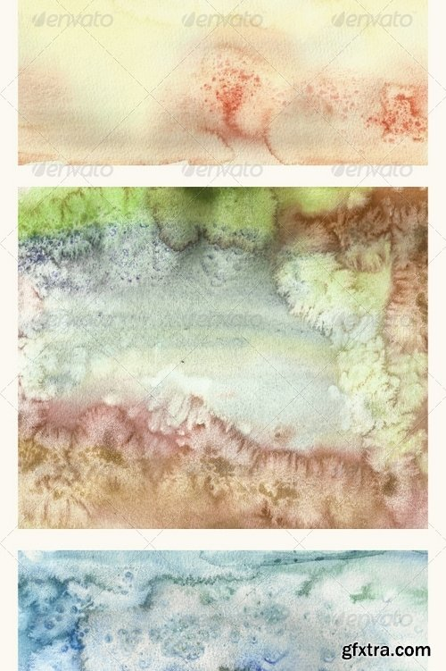GraphicRiver - Set of 12 Watercolor Backgrounds 6954744