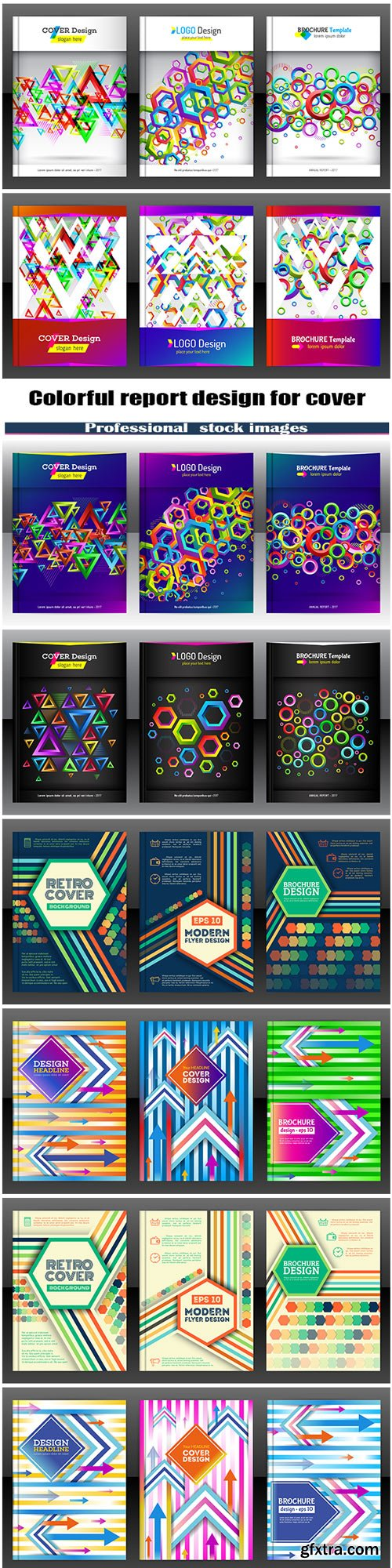 Colorful report design for cover
