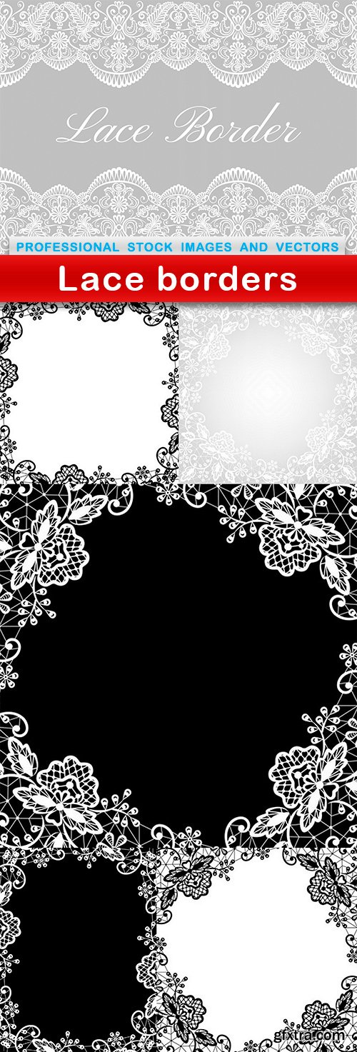Lace borders - 6 EPS