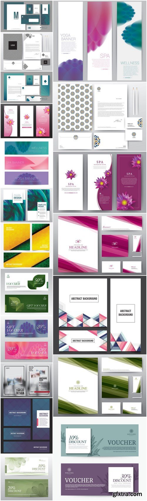 Abstract Template Banners And Card - 20 Vector