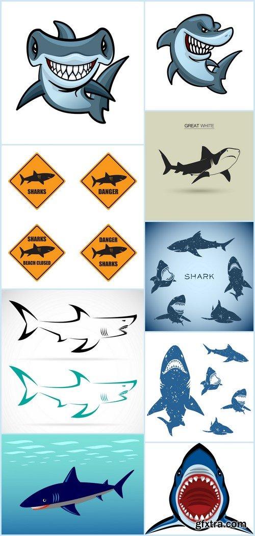Sharks danger set 9X EPS