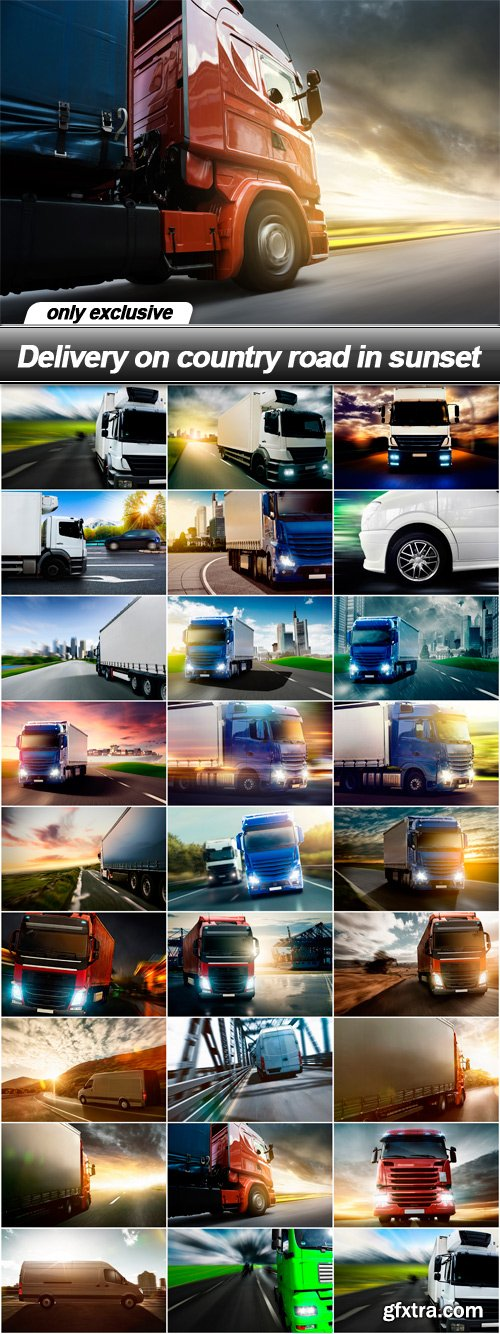 Delivery on country road in sunset - 26 UHQ JPEG