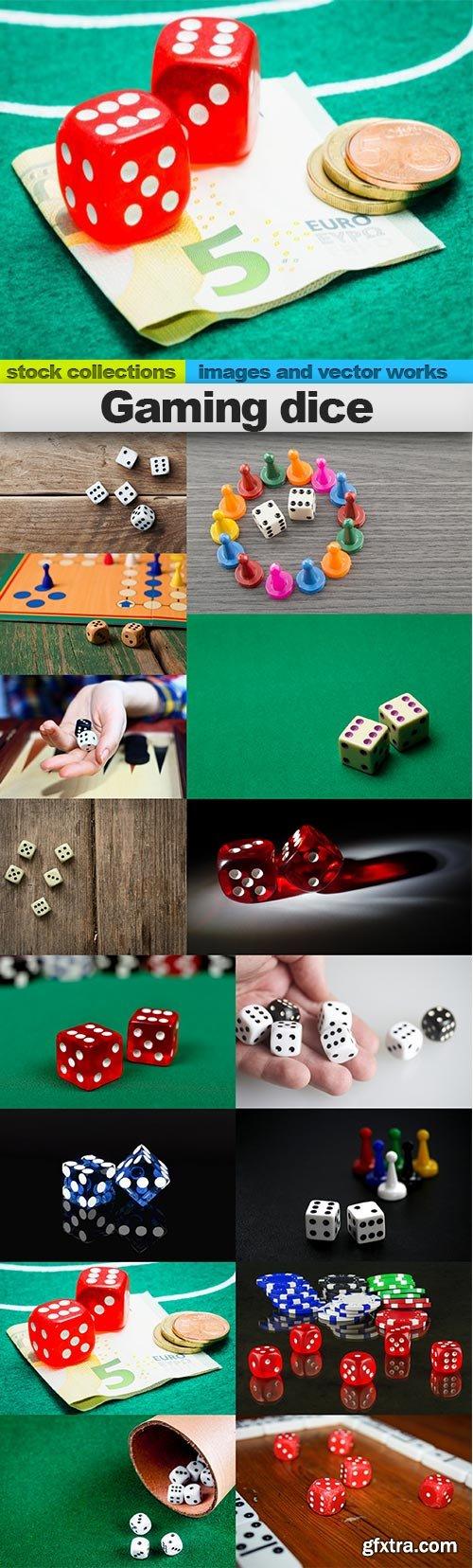 Gaming dice, 15 x UHQ JPEG
