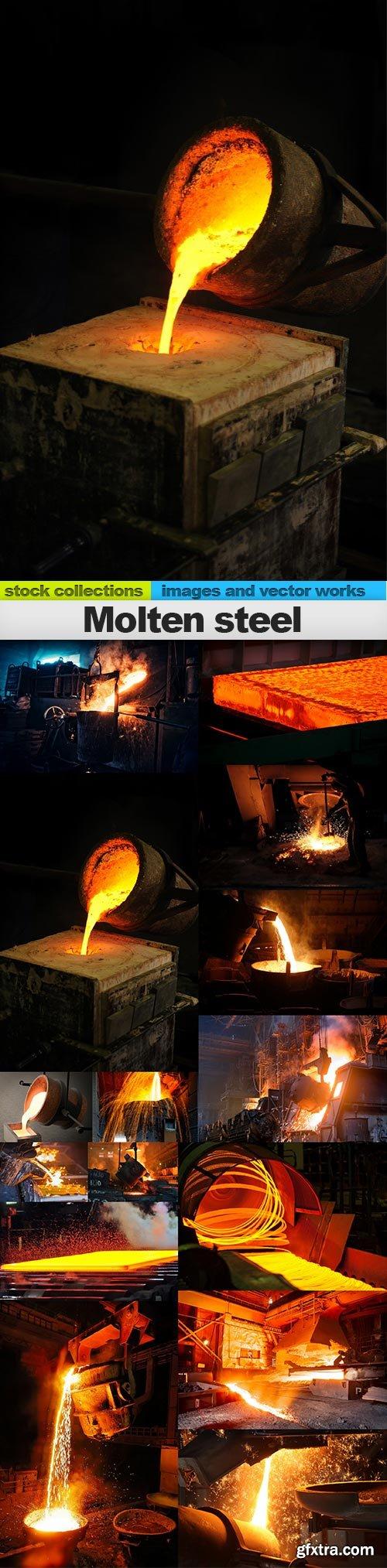 Molten steel, 15 x UHQ JPEG