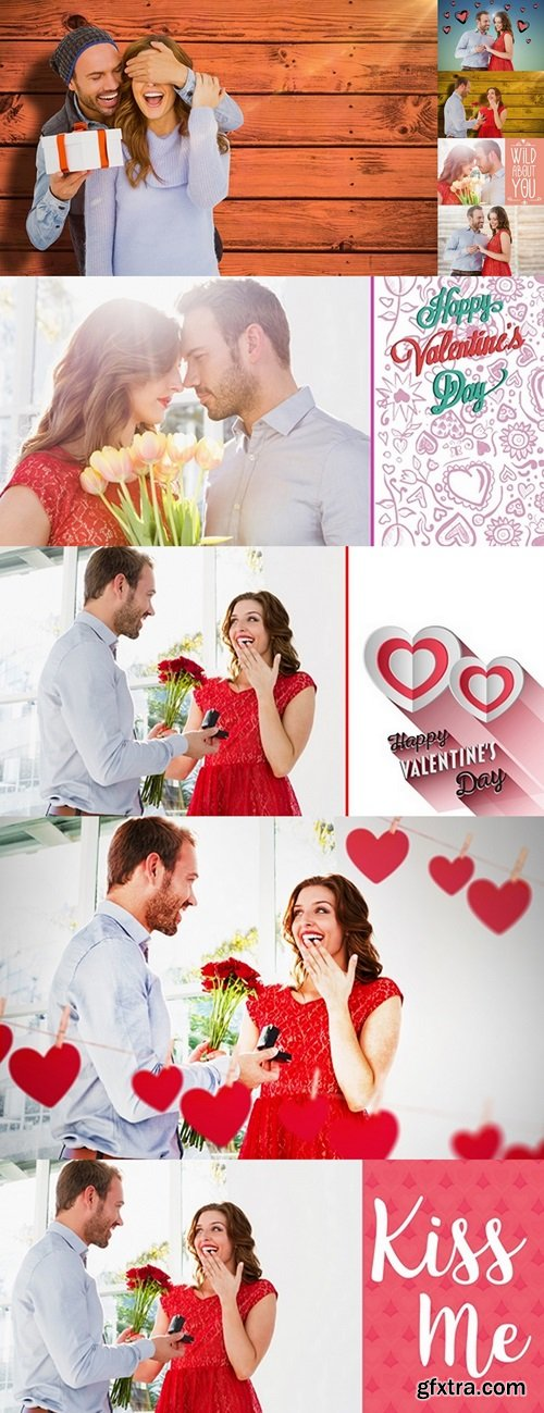 Composite image of man proposing woman