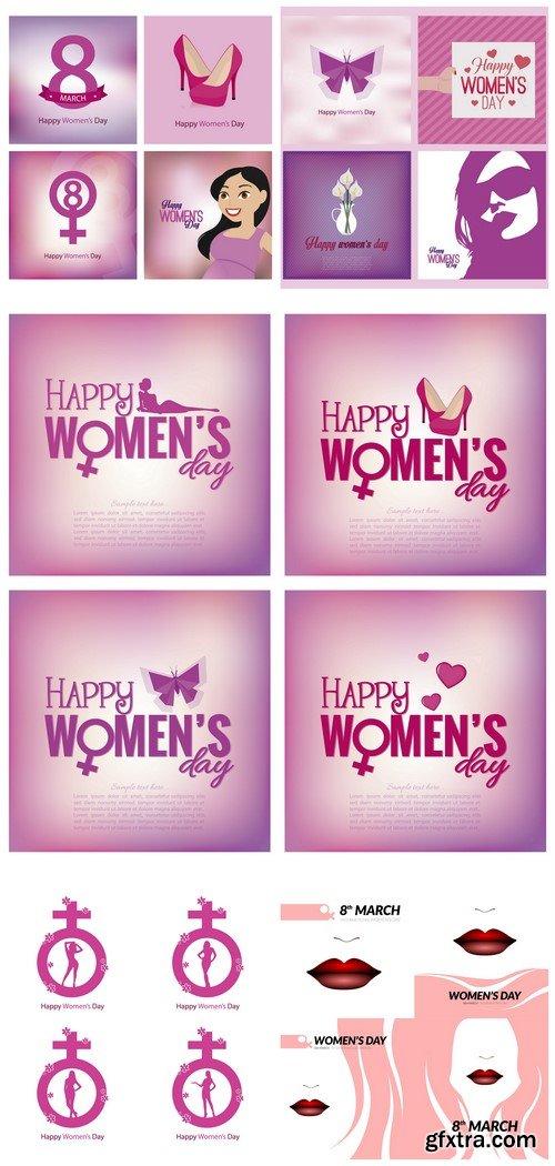 Happy womens day 5X EPS