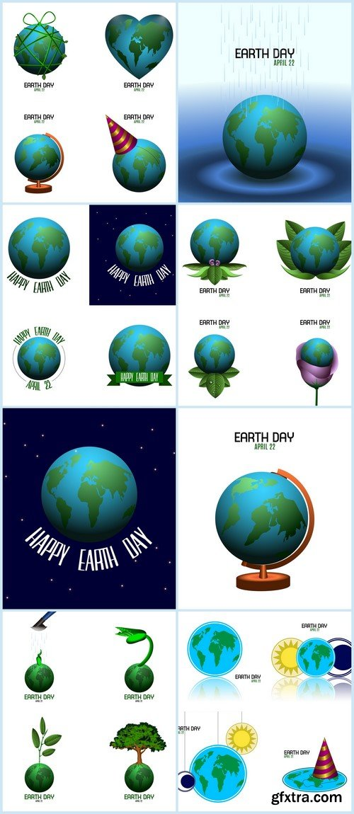 Earth day 8X EPS