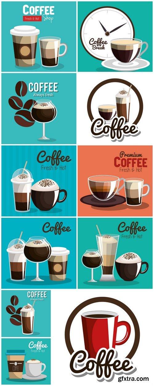 Delicious coffee poster vector illustration design #2 11X EPS