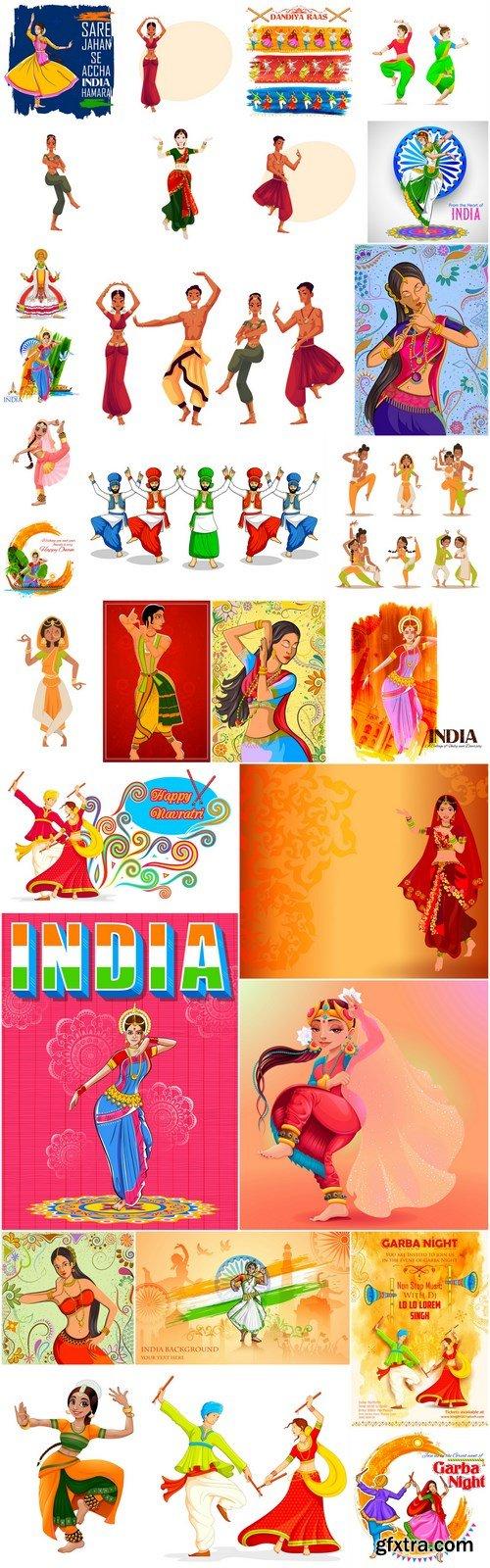 Indian Dancer - 30 Vector