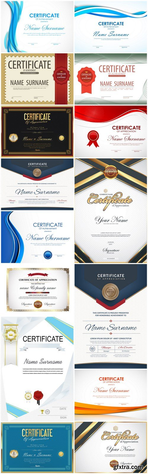 Certificate Design Template - 15 Vector